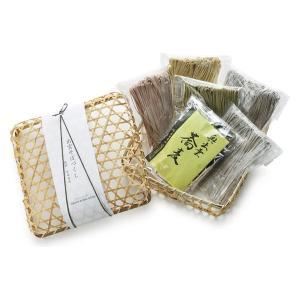 国産原料を厳選して使用。玄そば、梅、柚子、茶そばの4種。備え付けの特製つゆと薬味でお召し上がり下さい...