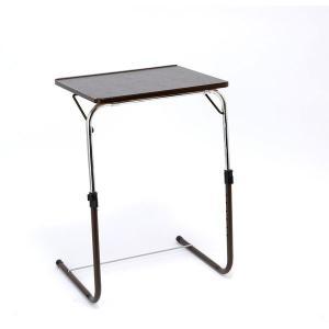 どなたでも簡単に引き寄せて使えるテーブル。 ファミリー・ライフ 角度調整付折りたたみテーブル(補強バ...
