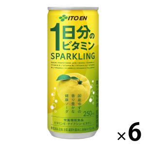 1日分のビタミン スパークリング 250ml 1セット(6缶) 野菜ジュース