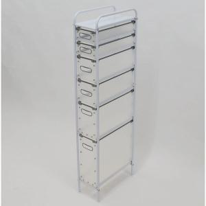 幅17.5cmに設置できるスリムチェスト。効率の良い収納ができるように高さの違う4つの引き出しをご用...