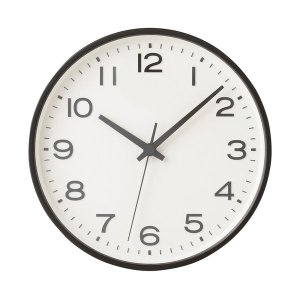 業務用時計で使用されている数字フォントをモディファイし、数字に凸加工を施した視認性の良い壁掛け時計で...