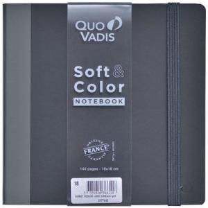 ポップでカラフルな「SOFT&COLOR」シリーズの横罫ノート。思わず元気が湧いてくるアクセントカラ...