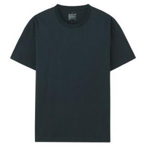 4a486c7fd1ebf SALE/ 無印良品 オーガニックコットンクルーネック半袖Tシャツ 紳士 M ダークネイビー 良品計画 Tシャツ