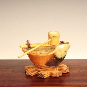 信楽焼つくばい|y-bonsai