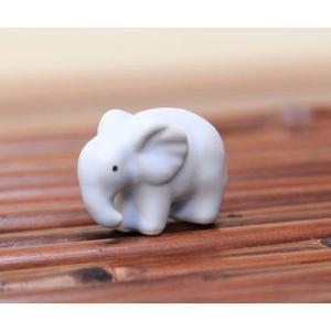 陶器オブジェ:ゾウ|y-bonsai