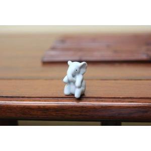 陶器オブジェ:座りゾウ|y-bonsai