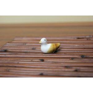 陶器オブジェ:カモ|y-bonsai