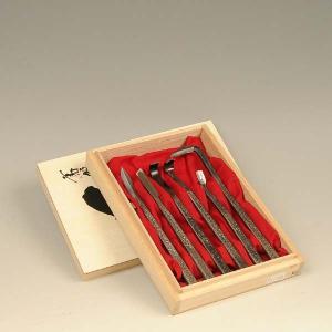 シャリ作りに最適:彫刻刀6点セット(木箱入り)|y-bonsai