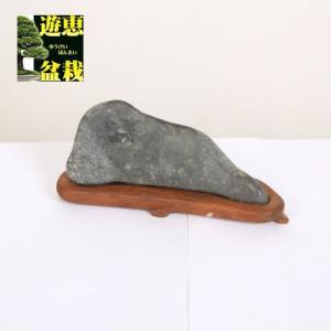 水石:波根海岸石 東石作台【現品】|y-bonsai