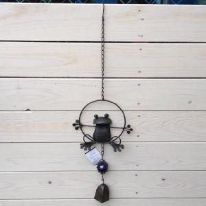 雑貨 メタルフロッグハンギングベル|y-bonsai