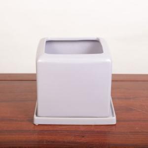 雑貨:モダン鉢 15.0cm ライラック*|y-bonsai