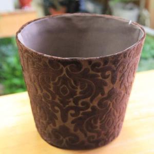 雑貨 ポットカバー:ショコララウンド 23cmX19cm*|y-bonsai