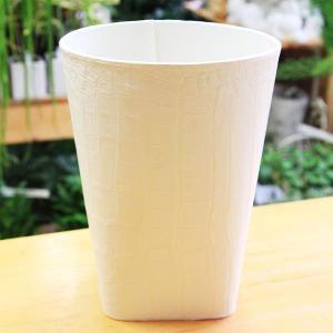雑貨 ポットカバー:マルチボックス(フェイクレザー) 21cmX28cm*|y-bonsai