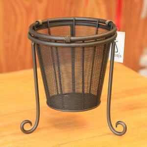 SALE 雑貨 ポットカバー:ブラウニーバスケットクラウン*20.5cm|y-bonsai