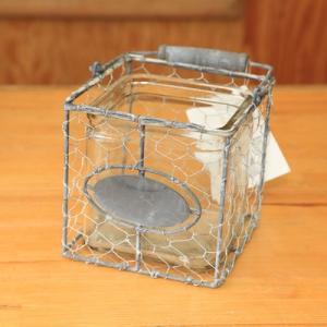 雑貨カントリー調鉢カバー☆☆:コッコバスケットスクエア 14cm*CB-04|y-bonsai
