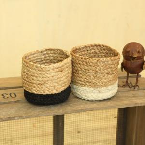 雑貨 鉢カバー:ジュートプランツカバー*Sサイズ お色選べます|y-bonsai