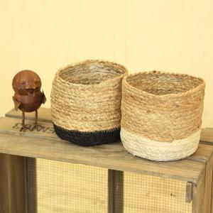 雑貨 鉢カバー:ジュートプランツカバー*Mサイズ お色選べます|y-bonsai
