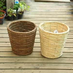 雑貨 鉢カバー:バスケット*天然素材 7号用|y-bonsai