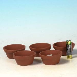 国産素焼き浅鉢2号 5個セット y-bonsai