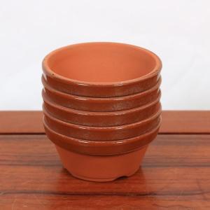 国産素焼き 駄温 浅鉢 3号5個セット y-bonsai