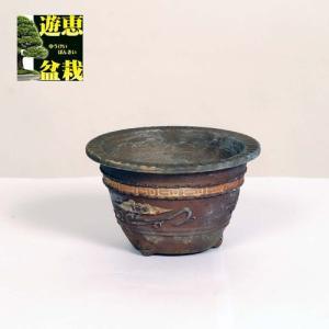 盆栽小鉢:丹波立杭焼 重一 10.5cm【現】|y-bonsai