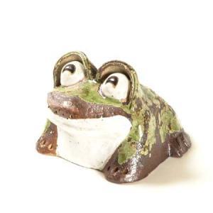 置物:笑いかえる(信楽焼)|y-bonsai