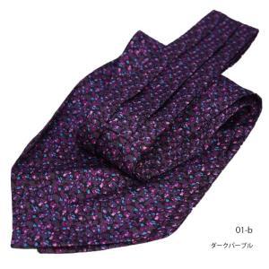 流行中のプリント柄アスコットタイ ネクタイ DAVINCI ダヴィンチ  シルク100% 商品ページ計50種類から選べる|y-cravat-ueda|03