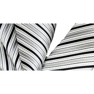 ネクタイ フォーマル シルク 日本製 モードなフォーマルセット シルバーベース ナロータイ/ポケットチーフ 礼装|y-cravat-ueda|04