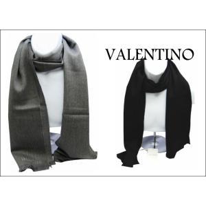 バレンティノ VALENTINO ブランド マフラー ウォームビズ メンズ 無地 ロゴ|y-cravat-ueda