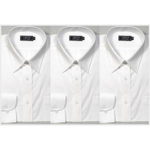 シャツ 白 ワイシャツ3枚セット!制服 ユニフォームに y-cravat-ueda