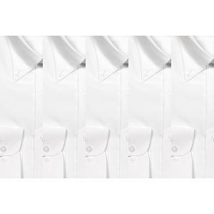シャツ 白 ボタンダウン 長袖 ワイシャツ5枚セット!制服 ユニフォームにも y-cravat-ueda