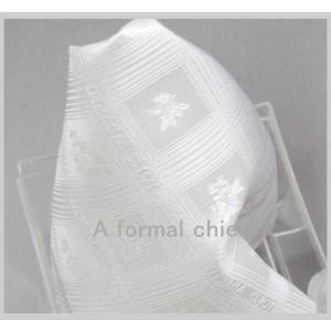 ポケットチーフ 礼装 ライトシルバー チーフ いつものネクタイにプラス   結婚式 披露宴 パーティに|y-cravat-ueda