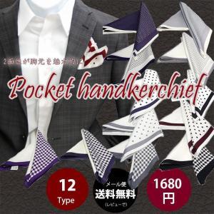 ドット チェック×無地 縁取り 2面タイプ フォーマルにもオフィスにも  ポケットチーフ(シルク100% )|y-cravat-ueda