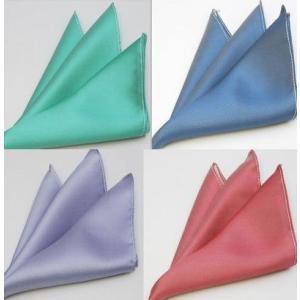 ポケットチーフ 無地ソリッドチーフ 選べる4カラー ポケットチーフ(国産 シルク100%) ビジネス カジュアルにも|y-cravat-ueda