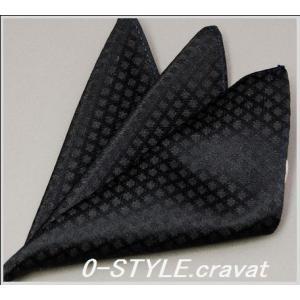 ポケットチーフ モード 地紋系 ブラック系 結婚式 披露宴 パーティー|y-cravat-ueda
