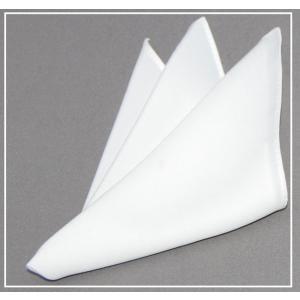ポケットチーフ 礼装 白 チーフ いつものネクタイにプラス   結婚式 披露宴 パーティに|y-cravat-ueda