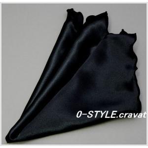 ポケットチーフ 珍しいフリル仕立て  無地 スクエア ブラック フォーマルやパーティに ポケットチーフ 結婚式 披露宴|y-cravat-ueda