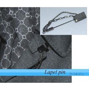 ラペルピン メンズ タイニーピン ブローチ シリーズ ブラック系 スワロフスキー  日本製|y-cravat-ueda