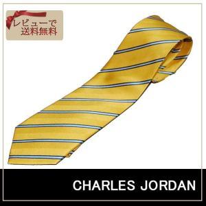 CHARLES JOURDAN シャルルジョルダン ネクタイ イエローベース ストライプ ブランドネクタイ紙袋つき|y-cravat-ueda