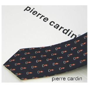Pierre Cardin ピエール カルダン ネクタイ 濃紺ベース 小紋 ネクタイ ブランドネクタイ紙袋つき ギフト クリスマス 誕生日|y-cravat-ueda