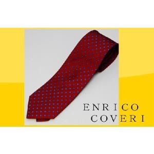 ネクタイ ブランド ENRICO COVERI エンリコ コベリ エンジベース 小紋 ネクタイ ブランドネクタイ紙袋つき ギフト お祝い 誕生日|y-cravat-ueda