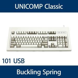 Unicomp Classicモデル バックリングスプリング機構 英語配列(101キー) USB 白 UNI041A y-diatec