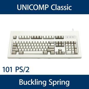 Unicomp Classicモデル バックリングスプリング機構 英語配列(101キー) PS/2 白 UNI0416 y-diatec