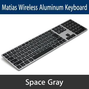 Matias Wireless Aluminum Keyboard - Space gray 日本語配列 FK418BTB-JP y-diatec