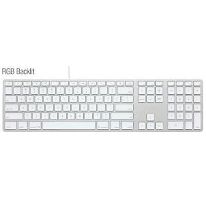 Matias  RGB Backlit Wired Aluminum Keyboard for Mac - Silver 英語配列 FK318LS|y-diatec