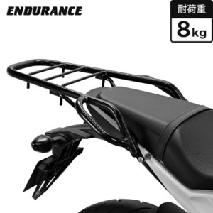【ENDURANCE】CBR650F CB650F タンデムグリップ付きリアキャリア(ブラック) CAR_ 065R_ y-endurance