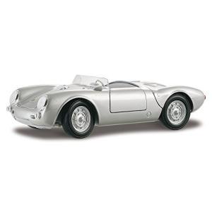 Maisto 1/18 Scale Diecast - 31843 Porsche 550 A Spyder 1955 Silver y-evolution