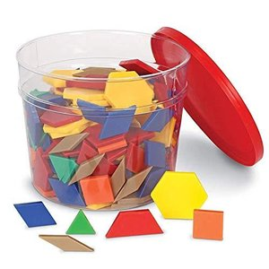 Learning Resources Pattern Blocks パターンブロック (プラスチック製:250個セット) 正規品 y-evolution