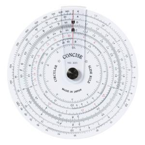 コンサイス 定規 円形計算尺 300 100829|y-evolution