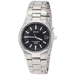 [セイコーウォッチ] 腕時計 セイコー セレクション ソーラー電波 チタンモデル 黒文字盤 サファイアガラス SBTM193 メンズ シルバー|y-evolution